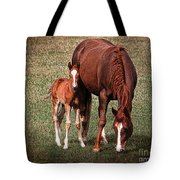 Mare With Foal Tote Bag