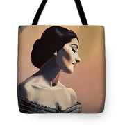 Maria Callas Painting Tote Bag