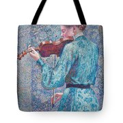 Marie Anne Weber Playing The Violin  Tote Bag