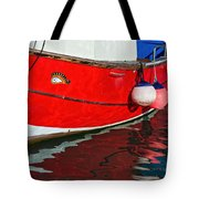 Marie F At The Harbour Tote Bag