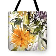 Marigold And Other Flowers Tote Bag