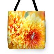 Ailanthus Webworm Visits The Marigold  Tote Bag