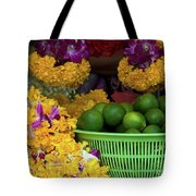 Marigolds And Limes Tote Bag