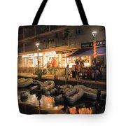 Marigot Marina At Night Tote Bag