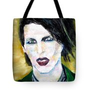 Marilyn Manson Oil Portrait Tote Bag