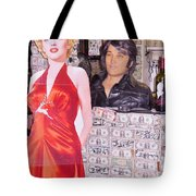 Marilyn Monroe And Elvis Tote Bag