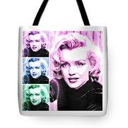 Marilyn Monroe Art Collage Tote Bag