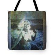 Marilyn Monroe At The Beach Tote Bag