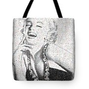 Marilyn Monroe In Mosaic Tote Bag