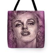 Marilyn Monroe In Pink Tote Bag