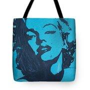 Marilyn Monroe Loves Batman Tote Bag