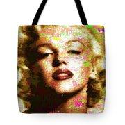 Marilyn Monroe Name Characters Tote Bag