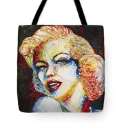 Marilyn Monroe Original Palette Knife Painting Tote Bag