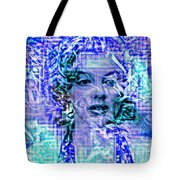 Marilyn Monroe Out Of The Blue Tote Bag