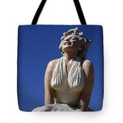 Marilyn Monroe Statue 2 Tote Bag
