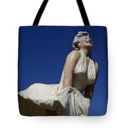 Marilyn Monroe Statue 3 Tote Bag