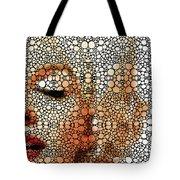 Marilyn Monroe - Stone Rock'd Art Painting Tote Bag