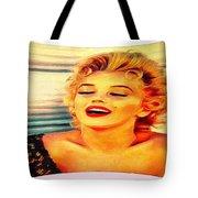 Marilyn Monroe Tribute Silked Curves Tote Bag
