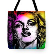 Marilyn Monroe Under Spotlights Tote Bag
