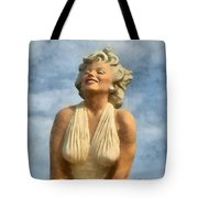 Marilyn Monroe Watercolor Tote Bag