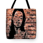 Marilyn On Brick Tote Bag