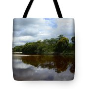 Marimbus River Brazil Reflections 4 Tote Bag