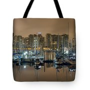 Marina Along Stanley Park In Vancouver Bc Tote Bag