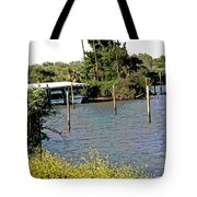 Marina At Miners Slough Tote Bag