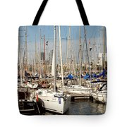 Marina At Port Vell Barcelona Tote Bag