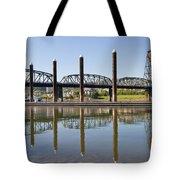 Marina By Willamette River In Portland Oregon Tote Bag