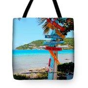 Marina Cay Sign Tote Bag