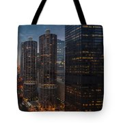 Marina City And A M A Plaza Chicago Tote Bag
