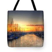 Marina Summer Sunset Tote Bag
