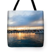Marina Sunrise 1 Tote Bag by Jim Thompson
