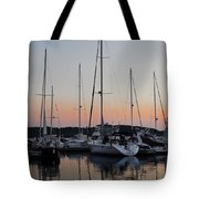 Marina Sunset Afterglow Tote Bag