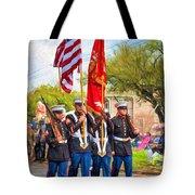 Marine Color Guard - Paint Tote Bag