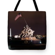 Marine Corps War Memorial Tote Bag
