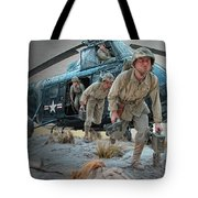 Marine Helicopter Landing Tote Bag