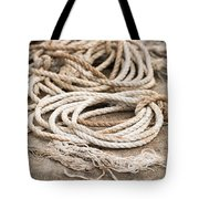 Marine Ropes Beige And Brown Colors Tote Bag by Matthias Hauser