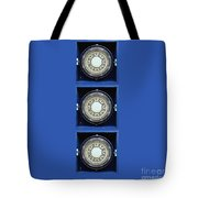 Mariners Compass Blue Tote Bag