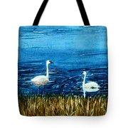 Marion Lake Swans Tote Bag