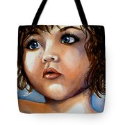 Crying Blue Eyes Tote Bag