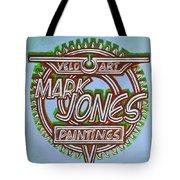 Mark Jones Velo Art Painting Blue Tote Bag by Mark Howard Jones