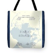Mark Twain Patent Tote Bag