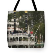 Mark Twain Riverboat Frontierland Disneyland Vertical Tote Bag