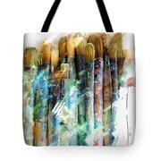 Marker Sketch Of Artist's Brushes Tote Bag