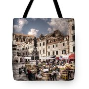 Market Day In The White City Tote Bag