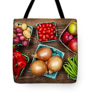 Market Fruits And Vegetables Tote Bag by Elena Elisseeva