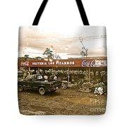 Market In Costa Rica  Tote Bag
