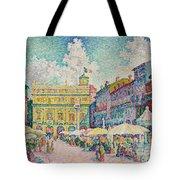 Market Of Verona Tote Bag